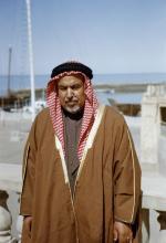 The ruler of Kuwait Shk. Abdullah of Salim Al Sabah. 1952 By: George Rodger